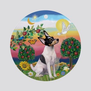 Toy Fox Terrier Bright Country Ornament (Round)