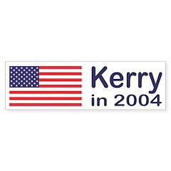 John Kerry in 2004 Bumper Bumper Sticker