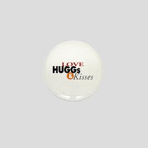 Love Huggs and Kisses Mini Button