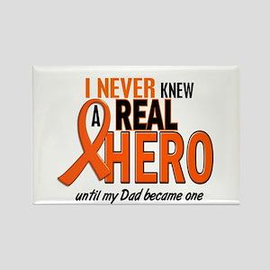 Never Knew A Hero 2 ORANGE (Dad) Rectangle Magnet