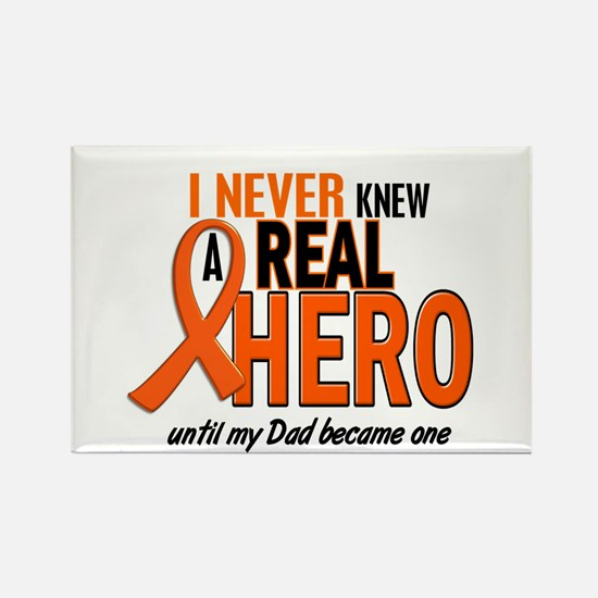 Never Knew A Hero 2 ORANGE (Dad) Rectangle Magnet
