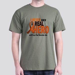 Never Knew A Hero 2 ORANGE (Dad) Dark T-Shirt