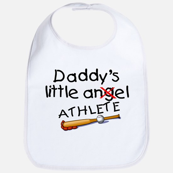 Daddy's Little Athlete (Baseball) Bib