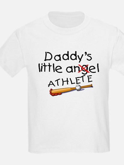 Daddy's Little Athlete (Baseball) T-Shirt