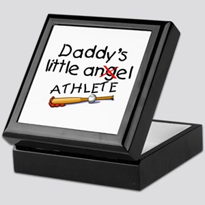 Daddy's Little Athlete (Baseball) Keepsake Box