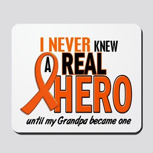 Never Knew A Hero 2 ORANGE (Grandpa) Mousepad