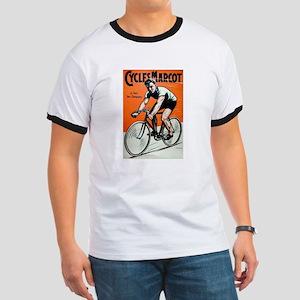 Vintage Bicycle Girl Ringer T