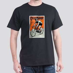 Vintage Bicycle Girl Dark T-Shirt