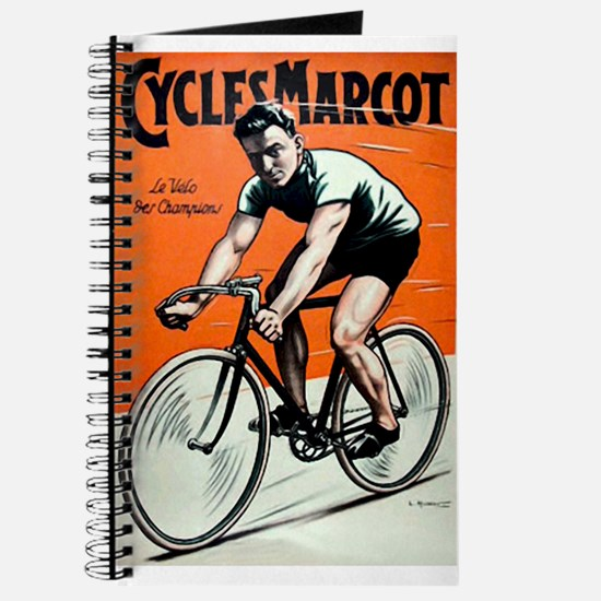 Vintage Bicycle Girl Journal