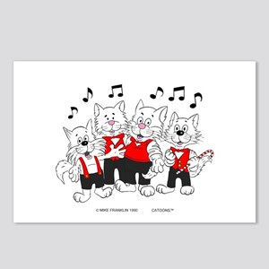 Chorus Singing Cats Postcards (Package of 8)
