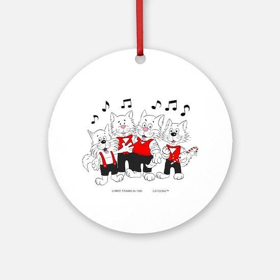 Chorus Singing Cats Ornament (Round)