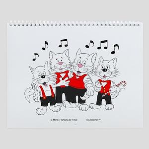 Chorus Singing Cats Wall Calendar