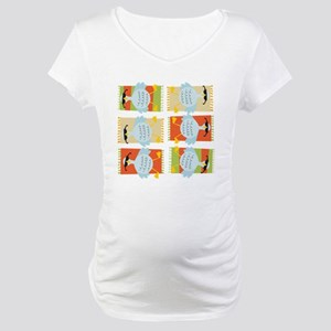 6 Geese A-Laying Maternity T-Shirt