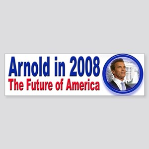 Arnold in 2008 for President Bumper Sticker