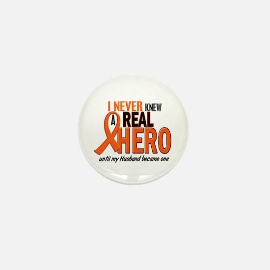 Never Knew A Hero 2 ORANGE (Husband) Mini Button
