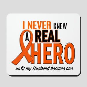 Never Knew A Hero 2 ORANGE (Husband) Mousepad