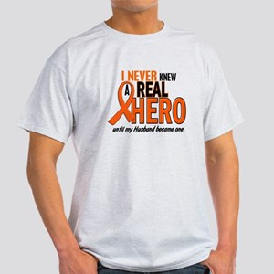 Never Knew A Hero 2 ORANGE (Husband) Light T-Shirt
