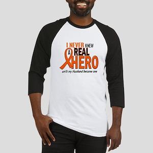 Never Knew A Hero 2 ORANGE (Husband) Baseball Jers