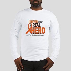 Never Knew A Hero 2 ORANGE (Husband) Long Sleeve T