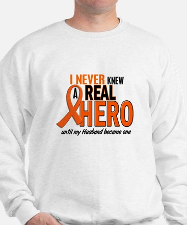 Never Knew A Hero 2 ORANGE (Husband) Sweatshirt