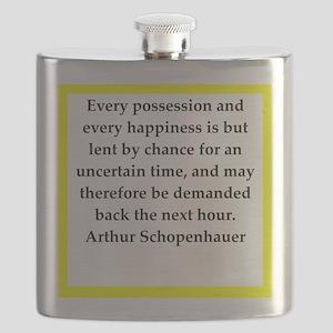 arthur schopenhauer quote Flask