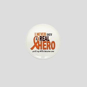 Never Knew A Hero 2 ORANGE (Wife) Mini Button