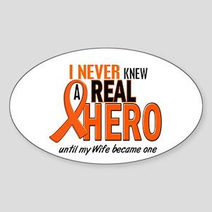 Never Knew A Hero 2 ORANGE (Wife) Oval Sticker