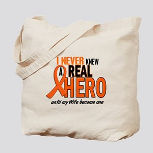 Never Knew A Hero 2 ORANGE (Wife) Tote Bag
