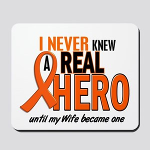 Never Knew A Hero 2 ORANGE (Wife) Mousepad