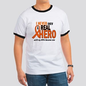 Never Knew A Hero 2 ORANGE (Wife) Ringer T