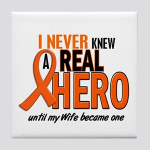 Never Knew A Hero 2 ORANGE (Wife) Tile Coaster