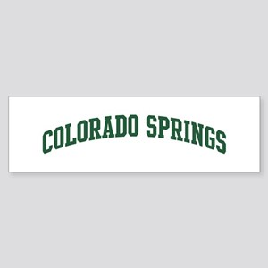 Colorado Springs (green) Bumper Sticker