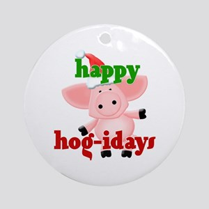 happy hog-idays Ornament (Round)