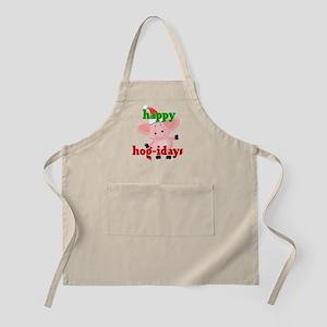happy hog-idays BBQ Apron