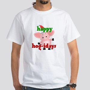 happy hog-idays White T-Shirt