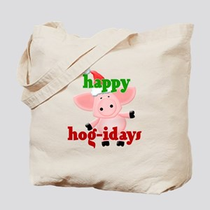 happy hog-idays Tote Bag