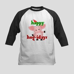 happy hog-idays Kids Baseball Jersey