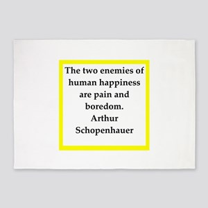 arthur schopenhauer quote 5'x7'Area Rug