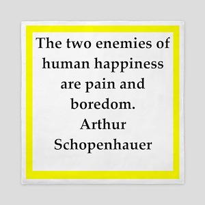 arthur schopenhauer quote Queen Duvet