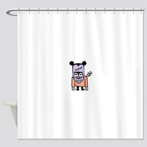 Orange freaky mouse Shower Curtain