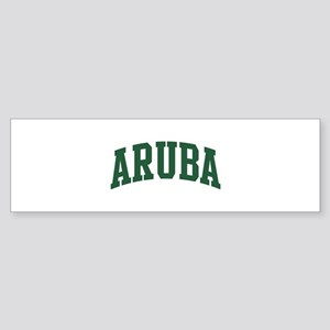 Aruba (green) Bumper Sticker