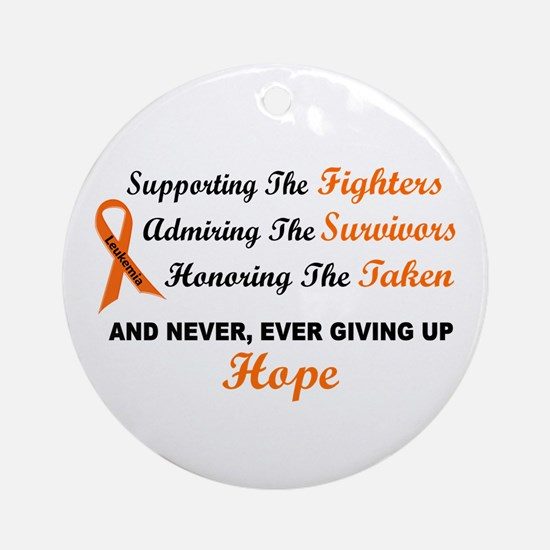 Supporting Admiring Honoring 1 LEUKEMIA Ornament (
