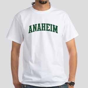 Anaheim (green) White T-Shirt