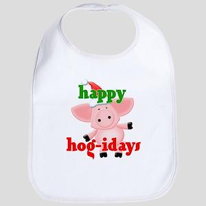 happy hog-idays Bib