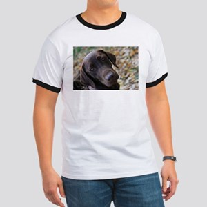 Chocolate Lab C Ringer T