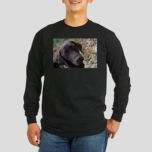 Chocolate Lab C Long Sleeve Dark T-Shirt