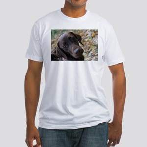 Chocolate Lab C Fitted T-Shirt