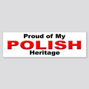Proud Polish Heritage Bumper Sticker