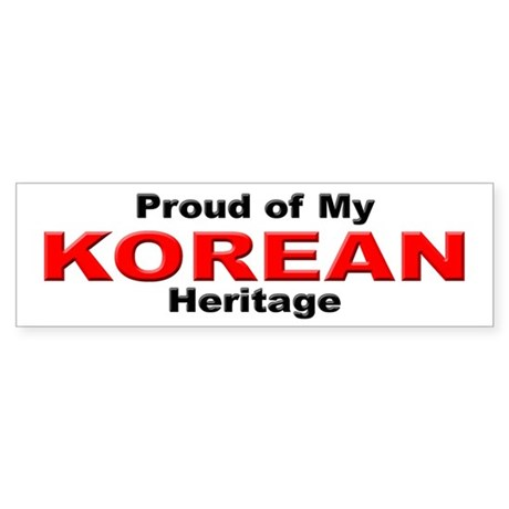Proud Korean Heritage Bumper Sticker
