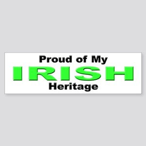 Proud Irish Heritage Bumper Sticker